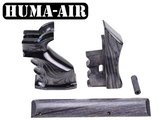 FX Impact Laminated Grip Set Grey Lacquered