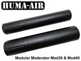 Huma-Air Modular Airgun Silencer Mod30 vs Mod40