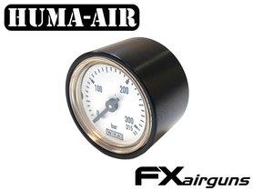 Black tactical pressure gauge cover for 28 mm. Wika gauges