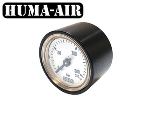 Wika 28 mm regulator pressure gauge upgrade set 250 bar for Fx Dreamlite with optional black cover