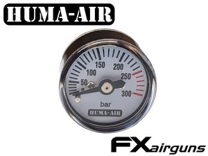 FX Pressure Gauge 25mm, Round Body, By Huma-Air