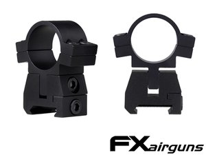 FX Airguns No Limit Scope Mounts 30 mm. Weaver Picatinny