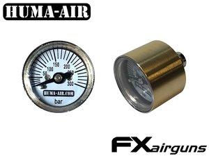 Fx Crown replacement pressure gauge 26 mm, round brass body