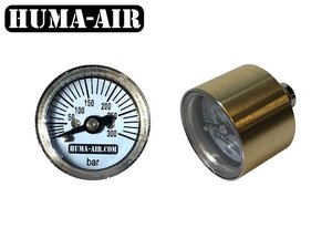 Mini pressure gauge 26 mm round body G1/8 BSP