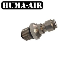 Foster male to G1/8 BSP male adaptor with valve