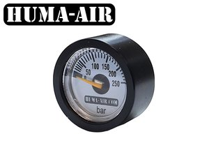 Black tactical pressure gauge cover for 23 mm pressure gauges