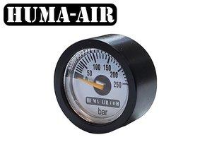 Black tactical pressure gauge cover for 23 mm pressure gauges