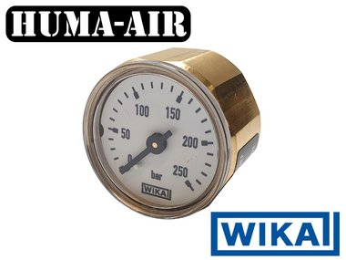 Wika 28 mm regulator pressure gauge upgrade set 250 bar for Fx Impact MKII with optional black cover