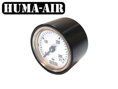 Wika mini pressure gauge bar for Vulcan Uragan with tactical black cover