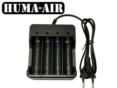 Charger for 4x lithium 18650 batteries