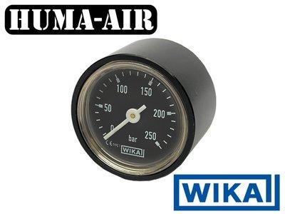 Wika black 28 mm regulator pressure gauge upgrade set 250 bar for Fx Impact MKII with optional black cover