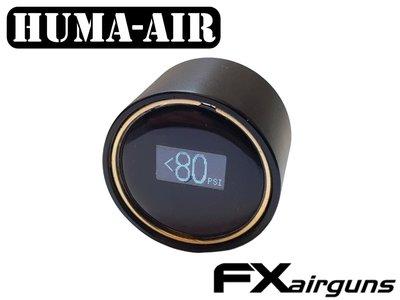 Digital mini pressure gauge Edmu for FX Impact with black cover