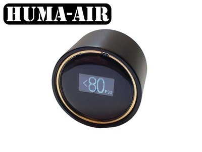 Digital mini pressure gauge Edmu with black cover